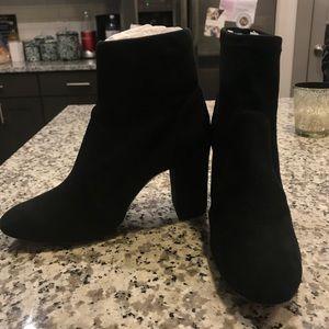 NWT Schutz suede black booties